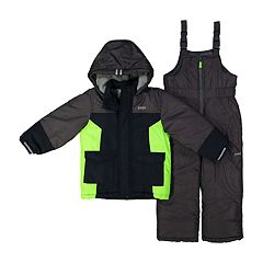Toddler Boy OshKosh B'gosh® Heavyweight Hooded Winter Jacket & Bib Overall Snow Pants