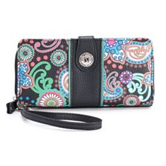 Stone & Co. Paisley Pebbled Leather Large Tab Wallet