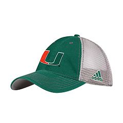 Adult adidas Miami Hurricanes Mesh Back Flex-Fit Cap