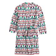 Kids 4-20 Jammies For Your Families Fairisle Microfleece Robe