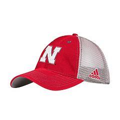 Adult adidas Nebraska Cornhuskers Mesh Back Flex-Fit Cap