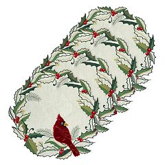 St. Nicholas Square® Cardinal Holly Cutout Placemat 4-pk.
