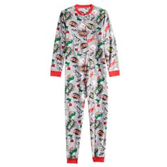 Kids Jammies For Your Families 'Ho Ho Ho!' Comic Book Microfleece One-Piece Pajamas