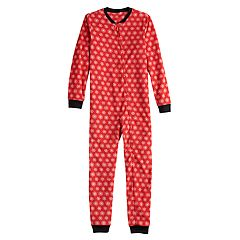 Kids 4-20 Jammies For Your Families Snowflakes Microfleece One-Piece Pajamas