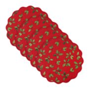 St. Nicholas Square® Holly Quilted Placemat 4-pk.