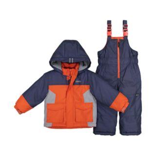 Baby Boy OshKosh B'gosh® Heavyweight Hooded Winter Jacket & Bib Overall Snow Pants