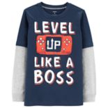 "Boys 4-12 Carter's ""Level Up Like A Boss"" Mock Layer Graphic Tee"