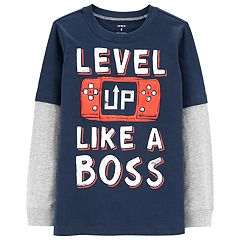 Boys 4-12 Carter's 'Level Up Like A Boss' Mock Layer Graphic Tee