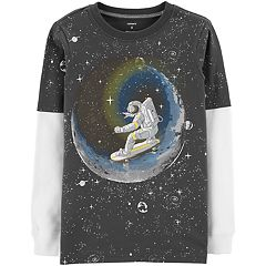 Boys 4-12 Carter's Space Moon Astronaut Mock Layer Graphic Tee