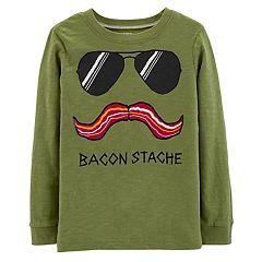 Boys 4-12 Carter's 'Bacon Stache' Graphic Tee