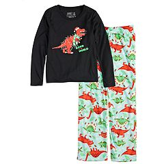 Girls 7-16 Jammies For Your Families Dino 'Rawr to the World' Top & Microfleece Bottoms Pajama Set