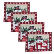 St. Nicholas Square® Snowman Tapestry Placemat 4-pack