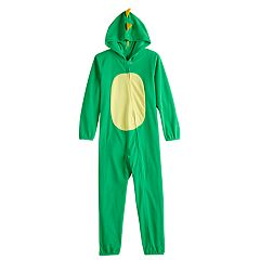 Kids 4-20 Jammies For Your Families Dino Microfleece One-Piece Pajama Set