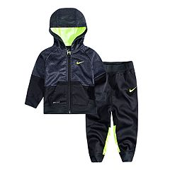 Baby Boy Nike Speckle Colorblock Hooded Zip Jacket & Pants Set