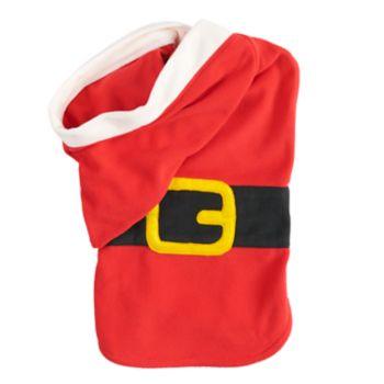 Pet Jammies For Your Families Santa Suit Microfleece Bodysuit