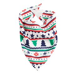 Pet Jammies For Your Families Fairisle Microfleece Bandana
