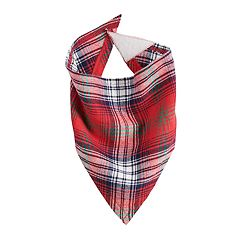 Pet Jammies For Your Families Plaid Flannel Bandana