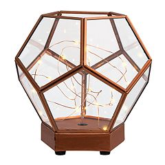 Laura Ashley Lifestyles Light-Up Lantern Terrarium Table Decor