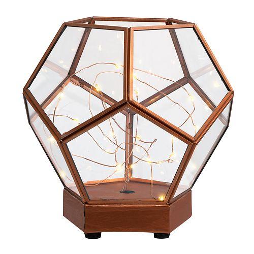 Laura Ashley Lifestyles Light-Up Lantern Terrarium Table Decor