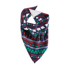 Pet Jammies For Your Families Happy Holidays Family Pajamas Fairisle Microfleece Bandana