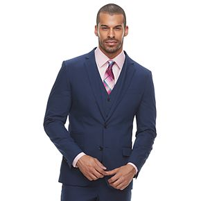 Men's Savile Row Slim-Fit Blue Suit Jacket