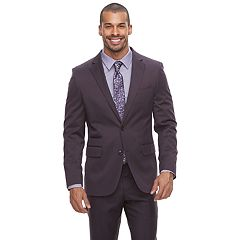 Men's Savile Row Modern-Fit Purple Suit Jacket