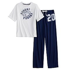 Boys 4-20 Jammies For Your Families Sunday Funday Top & Bottoms Pajama Set by Cuddl Duds