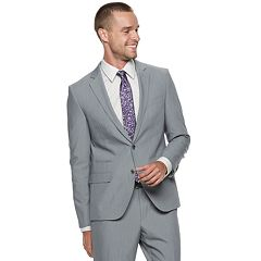 Men's Savile Row Slim-Fit Light Gray Suit Jacket