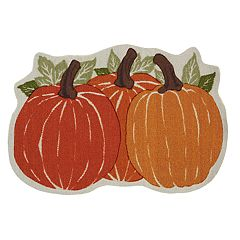 Celebrate Fall Together Pumpkin Trio Rug - 23'' x 35''