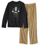 Boys 4-20 Jammies For Your Families Halloween Top & Microfleece Striped Bottoms Pajama Set