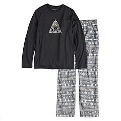 Boys 4-20 Jammies For Your Families 12 Days of Christmas Top & Five Golden Rings Fairisle Microfleece Bottoms Pajama Set