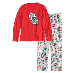 Boys 4-20 Jammies For Your Families 'Ho Ho Ho!' Comic Book Top & Microfleece Bottoms Pajama Set
