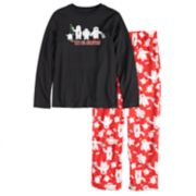 "Boys 4-20 Jammies For Your Families ""Yeti For Christmas"" Top & Microfleece Bottoms Pajama Set"