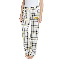 Women's Michigan Wolverines Flannel Pants