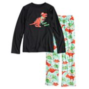 "Boys 4-20 Jammies For Your Families Dino ""Rawr to the World"" Top & Microfleece Bottoms Pajama Set"