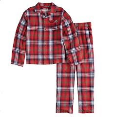 Boys 4-20 Jammies For Your Families Plaid Flannel Top & Bottoms Pajama Set
