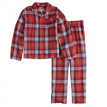 2c8c7af2523 Boys 4-20 Jammies For Your Families Plaid Flannel Top   Bottoms Pajama Set