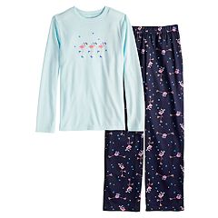 Boys 4-20 Jammies For Your Families Skating Flamingos Top & Bottoms Pajama Set