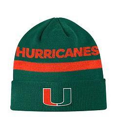 Adult adidas Miami Hurricanes Sideline Cuffed Beanie