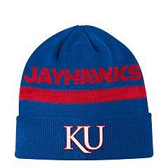 Adult adidas Kansas Jayhawks Sideline Cuffed Beanie