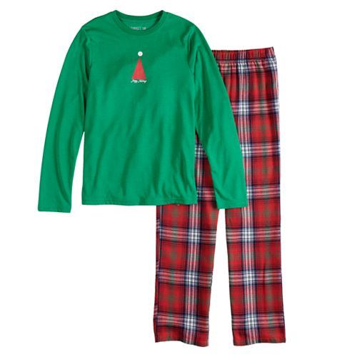 293bbea789 Boys 4-20 Jammies For Your Families Happy Holidays Family Pajamas Top   Bottoms  Set
