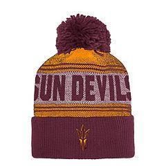 Adult adidas Arizona State Sun Devils Pom Cuffed Beanie