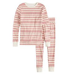 Boys 4-20 LC Lauren Conrad Jammies For Your Families Knit Winter Fairisle Top & Bottoms Pajama Set