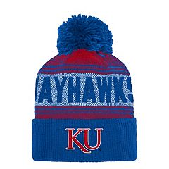 Adult adidas Kansas Jayhawks Pom Cuffed Beanie