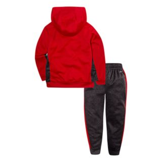Baby Boy Nike Dri-FIT Therma Fleece Pullover Hoodie & Striped Pants Set