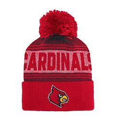 Adult adidas Louisville Cardinals Pom Cuffed Beanie