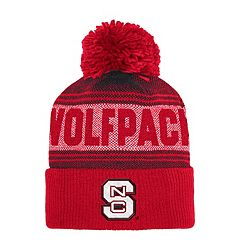 Adult adidas North Carolina State Wolfpack Pom Cuffed Beanie