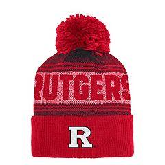 Adult adidas Rutgers Scarlet Knights Pom Cuffed Beanie