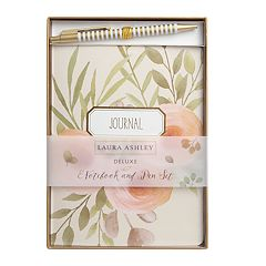 Laura Ashley Lifestyles Journal Notebook & Pen 2-piece Set