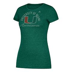 Women's adidas Miami Hurricanes Subtle Shine Tee